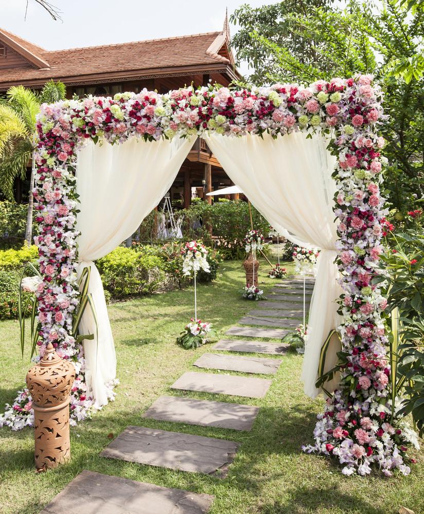 Wedding Arbor Flowers: A1 Tent Masters